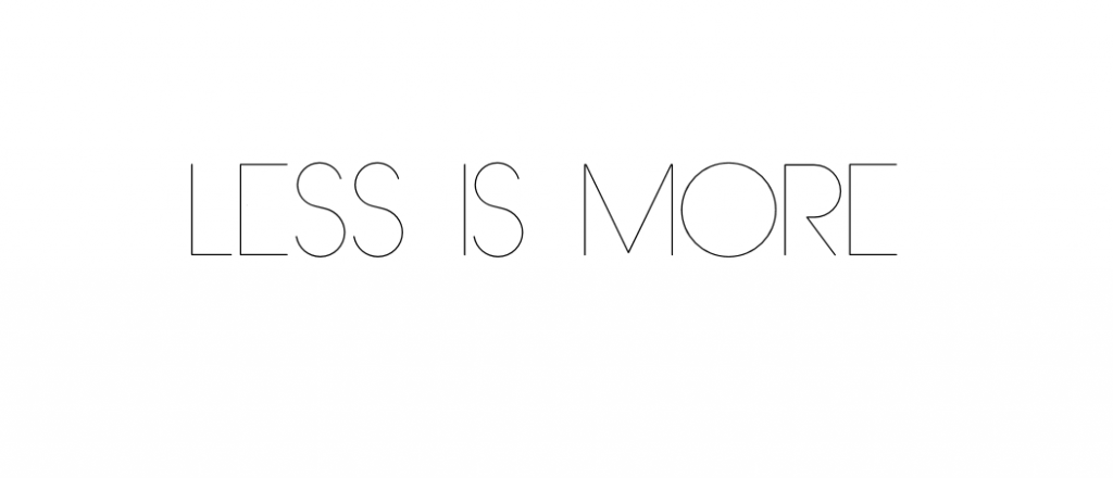 less is more fb